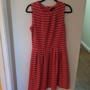 Coral Fit and Flare Dress, Size L